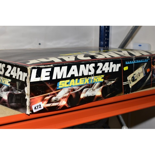 472 - BOXED SCALEXTRIC 200 ELECTRIC MODEL RACING REF C532, lacks cars with boxed Scalextric Le Mans 24hour...