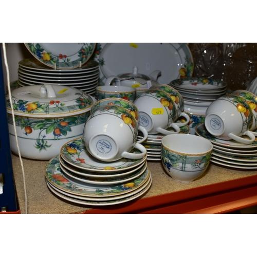 473 - WEDGWOOD HOME EDEN PATTERN DINNER AND TEA WARES, including oval meat platter, seven dinner plates, t...