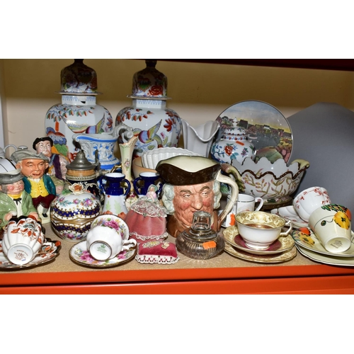 519 - ASSORTED CERAMICS ETC, to include tea wares by George Jones Crescent china, Empire Ivory wares, Roya...