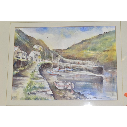 578 - PAINTINGS AND PRINTS ETC, to include a Beth Altabas watercolour harbour scene , signed bottom left, ...