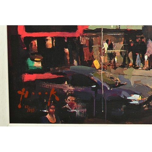 103 - CHRISTIAN HOOK (BRITISH 1971), 'Trafalgar Square, London', a Limited Edition print, 67/295, signed b...