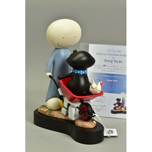125 - DOUG HYDE (BRITISH 1972), 'Daisy Trail', a Limited Edition cold cast porcelain sculpture, 518/595, i...