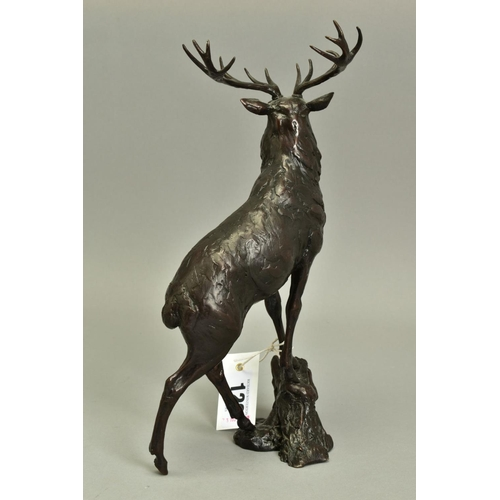 129 - JAMES STOCKTON (BRITISH CONTEMPORARY), 'Lord and Master', a Limited Edition bronze sculpture of a St...