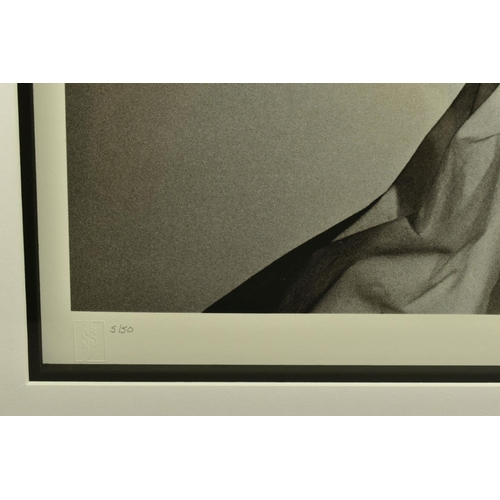 143 - JOHN SWANNELL (BRITISH 1946), 'Rodin Series No.4', a Limited Edition giclee print of lovers embracin...