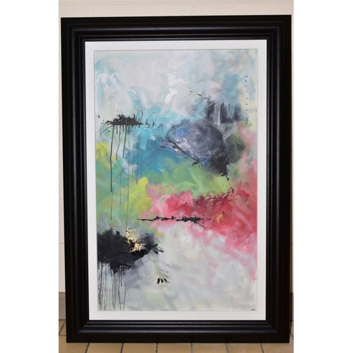 148 - ANNIE RODRIGUE (CANADIAN CONTEMPORARY), 'Crazy Fruits 1.2', an abstract composition, signed bottom r...