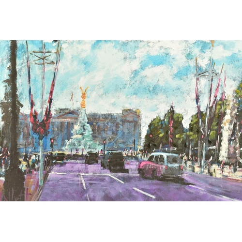 18 - TIMMY MALLETT (BRITISH CONTEMPORARY), 'Celebrating On The Mall', a Limited Edition print of a London...