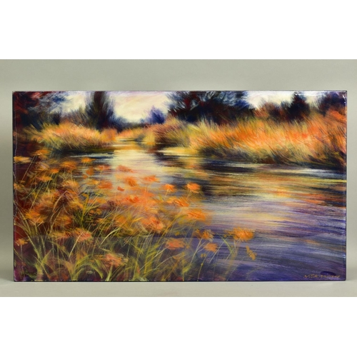 19 - NICK ANDREWS (BRITISH CONTEMPORARY), 'Gynantha', an impressionist river scene, signed bottom right, ...