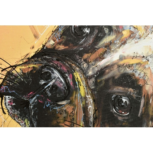 21 - SAMANTHA ELLIS (BRITISH 1992), 'All Ears', a Limited Edition print of a small dog, signed bottom lef...
