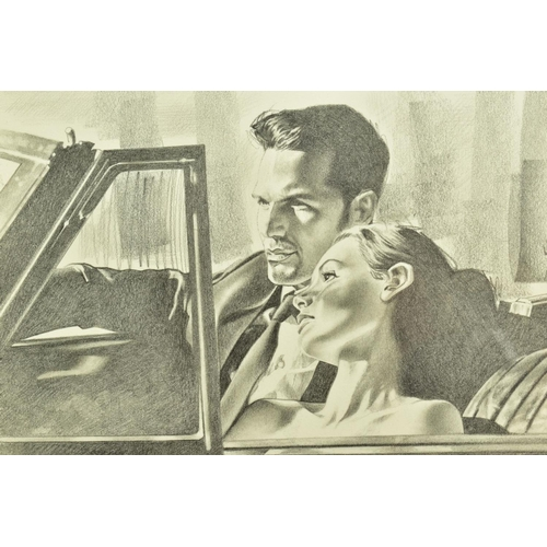23 - ROB HEFFERAN (BRITISH 1968), 'Study For Night and The City II', a charcoal sketch in preparation for...