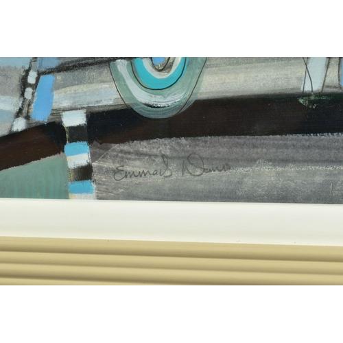 36 - EMMA S. DAVIS (SCOTTISH 1975), 'Listen', a still life study of a table setting, signed bottom left, ...