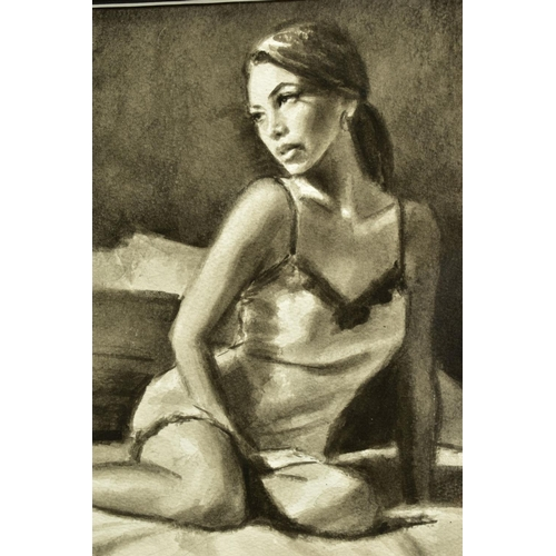 41 - FABIAN PEREZ (ARGENTINA 1967), 'Andlucia VI', a portrait study of a scantily clad female figure, sig...