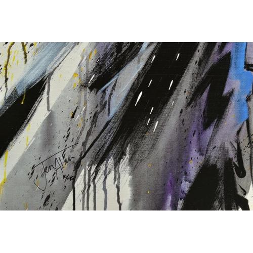 44 - JEN ALLEN (BRITISH 1979), 'Silent Guardian', a Limited Edition print of Batman, 10/195, signed lower...