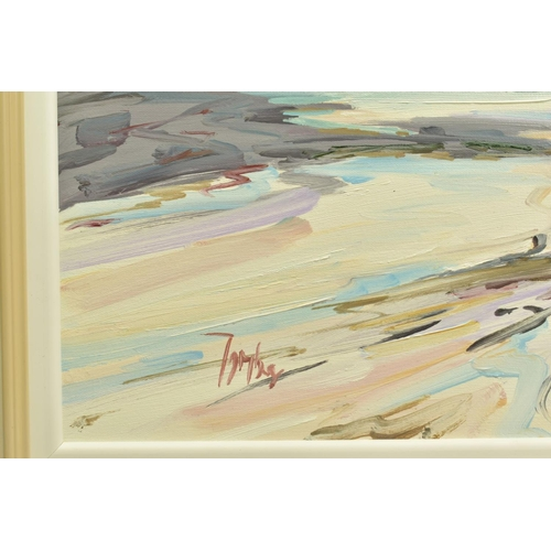 49 - TOM BARRON (SCOTTISH CONTEMPORARY), 'Summer Light, Sanna Bay IV', a Scottish coastal landscape, sign...