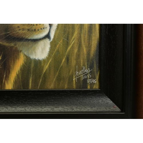 5 - JONATHAN TRUSS (BRITISH 1960), 'Braveheart', a Limited Edition portrait of a Lion, signed bottom rig...