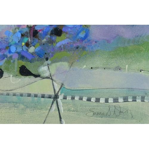 51 - EMMA S. DAVIS (SCOTTISH 1975), 'Into The Woods', a colourful woodland landscape, signed bottom right...