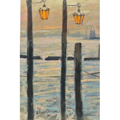 52 - JAMES BARTHOLOMEW (BRITISH CONTEMPORARY), 'Towards San Giorgio, First Light', a Venetian scene with ...