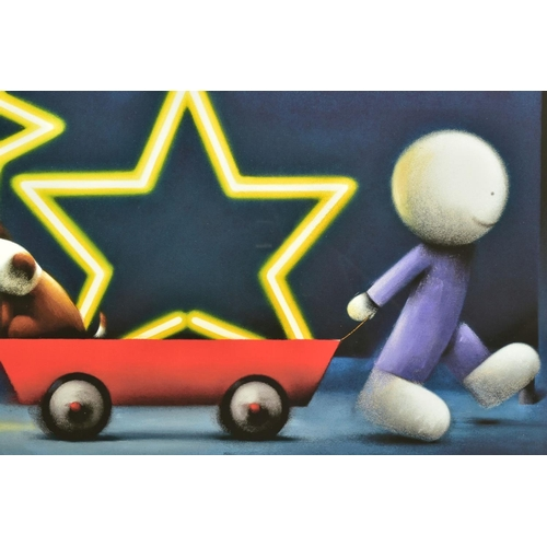 55 - DOUG HYDE (BRITISH 1972), 'Star Sign', a boy pulling a Dog in a cart, 76/395, signed to lower margin...