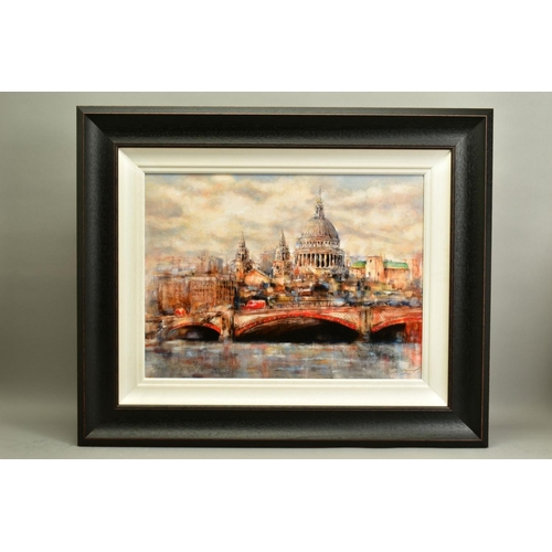 91 - GARY BENFIELD (BRITISH 1965), 'St Pauls', a Limited Edition print of a London skyline, 27/195, signe...