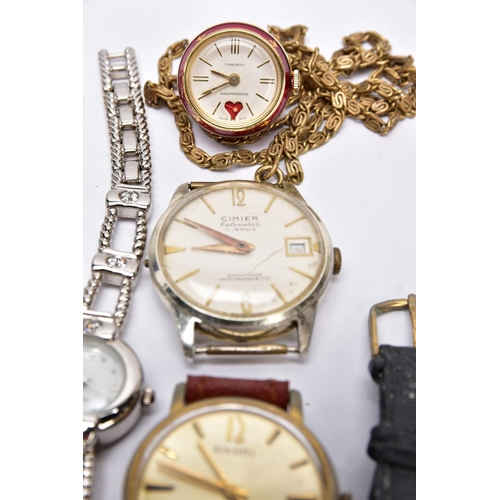 52 - A BOX OF ASSORTED LADIES AND GENTS WRISTWATCHES, to include seven gent's wristwatches with designs s...