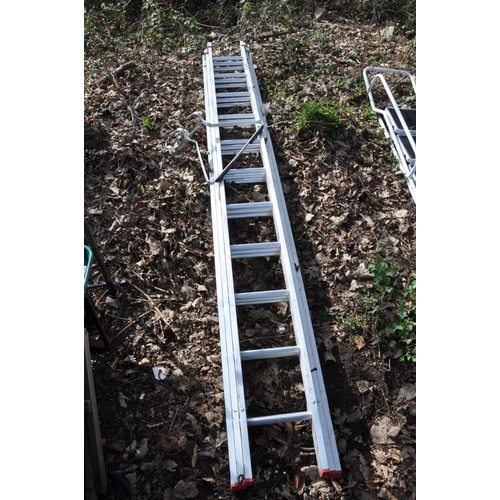 1003 - A LYTE INDUSTRIES ALUMINIUM TRIPLE EXTENSION LADDER, closed length 3.3m extended length 8.5m with la...