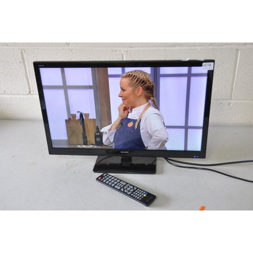 1074 - A SHARP LC-24DHF 24ins LCD TV with remote (PAT pass and working)