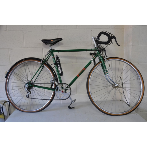 1083 - AN OVERPAINTED GENTS RACING BIKE with 13ins frame, 26ins wheels, Supino Crank, Bluemels Mudguard, 5 ...