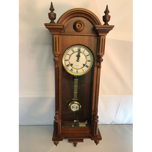 179 - Long cased 31 day wall clock working order...
