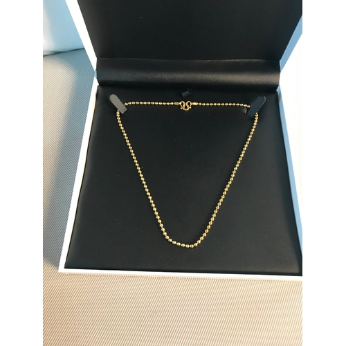 59 - Heavy 24ct gold men's chain...