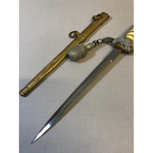 50 - German Nazi third Reich Kriegsmarine Naval officers dagger by Clemen & Jung Solingen. Comes with ori...