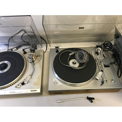 Garrard GT-20 Turntable, Trio Model KD-3100 Turntable and