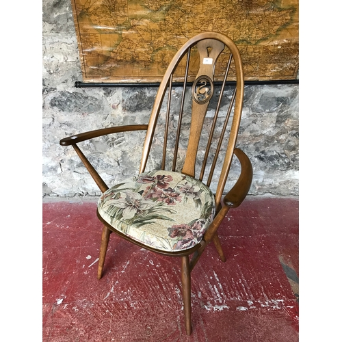 Awe Inspiring Ercol Spindle Back Arm Chair Designed With A Central Swan Pdpeps Interior Chair Design Pdpepsorg