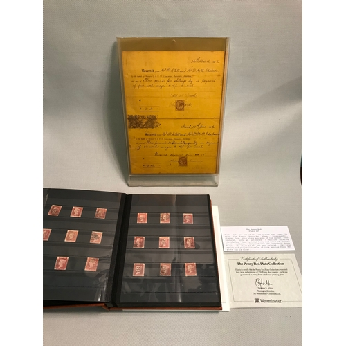 134 - Album of Penny reds which includes the penny red plate 225. together with various loose stamps to th...