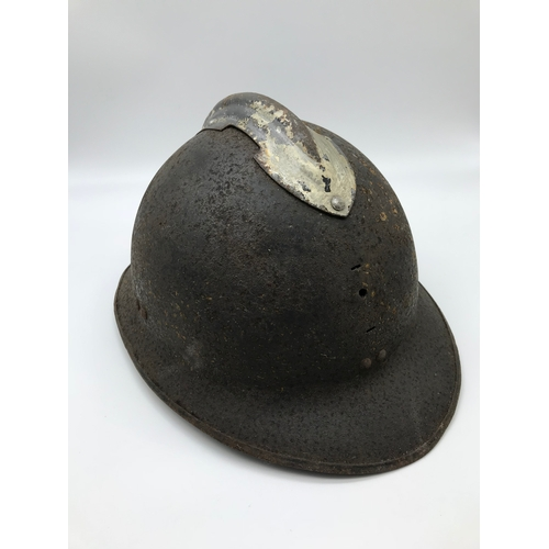 56 - WW1 French helmet, Excavated from the cavern on Messines des Dames Aisne....