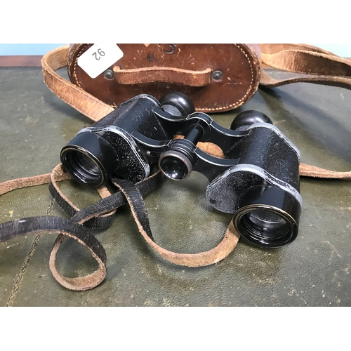 92 - Carl Zeiss Jena DF 6X24 864007 Binoculars dated 1918. comes with a leather carry bag....