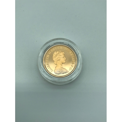 23 - Royal Mint 1980 gold proof full Sovereign coin, complete with case and booklet....
