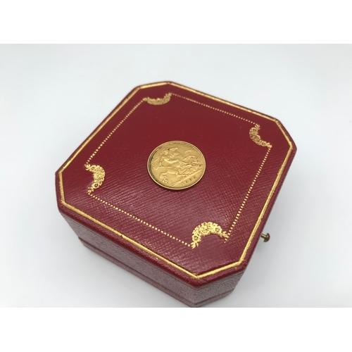 26 - An Edward VII gold half sovereign coin dated 1905...