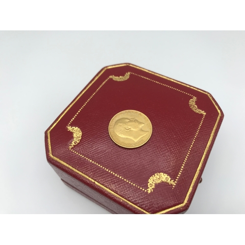 27 - An Edward VII Gold half sovereign coin dated 1909...