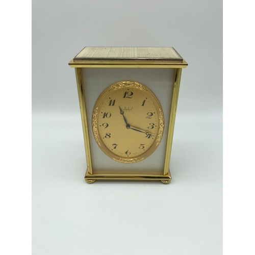 1 - Bucherer Imhof Vintage brass carriage clock, 8 days, 15 jewels. Running Condition. c1975...
