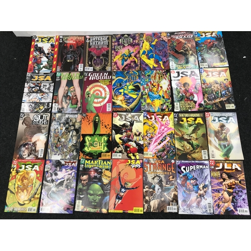 3 - A Collection of 28 DC Comics, Includes names such as J.S.A, Batman & The Green Arrow...