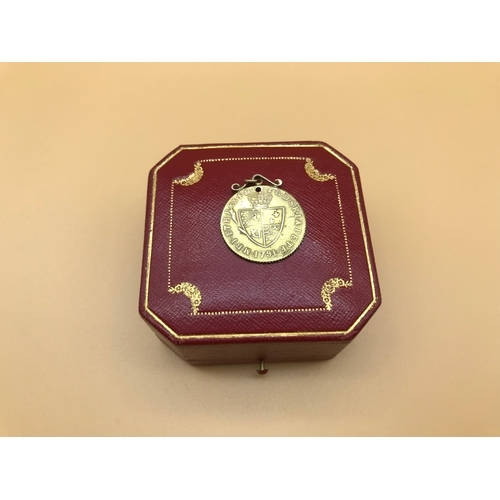 25 - 1791 George the 3rd Gold plated coin pendant...