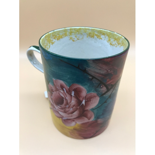 16 - Wemyss Jazzy Rose design large mug, 13.5cm in height...