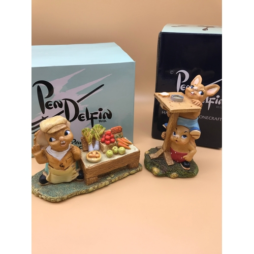 31 - 2 Pendelfin figurines named 'Winner' and 'Huff 'n' Puff'. Complete with original boxes...