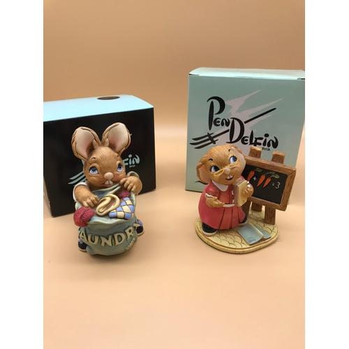33 - A lot of 2 Pendelfin figurines named 'Peggy' and 'Miss'....