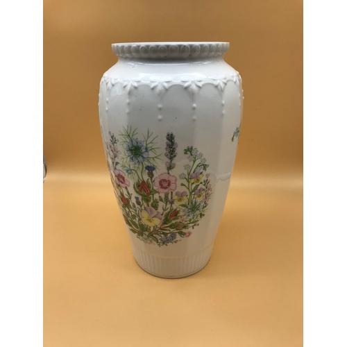 41 - Aynsley Large Vase, design 'Wild Tudor'...