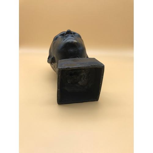 47 - Adolf Hitler Cast Iron Bust Standing 20cm in Height....
