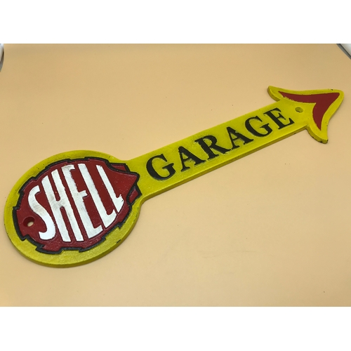 49 - Shell Garage Sign Length 42 cm x 12.5cm...