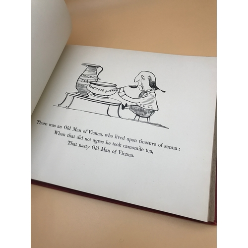 12 - The book of nonsense by Edward Lear dated 1896. Filled with 110 illustrations....