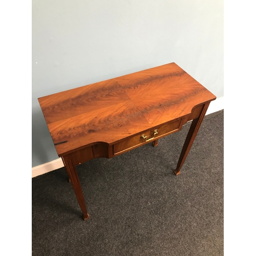 35A - A Reproduction one drawer console table. Measures 72x75x38cm...