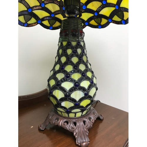 15 - A Tiffany pineapple design table lamp...