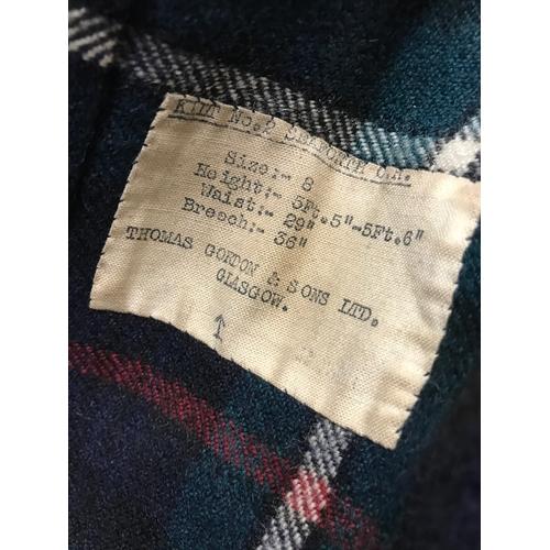 20 - WW2 kilt number 2 Seaforth O.R, size . Made by Thomas Gordon and Sons Ltd, Glasgow...